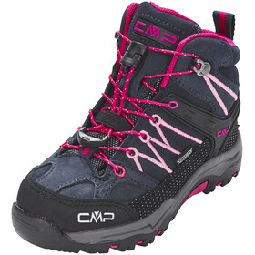 CMP Campagnolo Rigel Mid WP Trekking Shoes Kids Black Blue-Rose